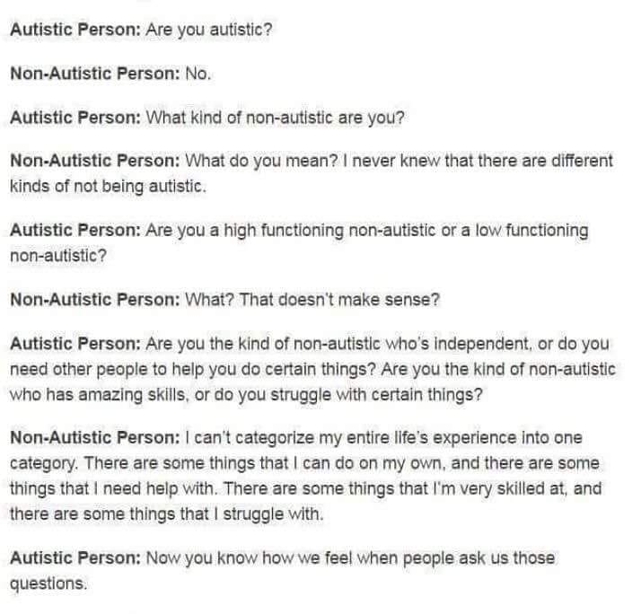 dialogue between autistic and not autistic